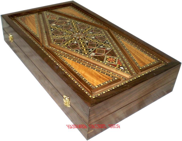 backgammon board holz perlmutt liebhaberst ck 52 x 59 50 cm gewicht 4 2 kg neu ebay. Black Bedroom Furniture Sets. Home Design Ideas