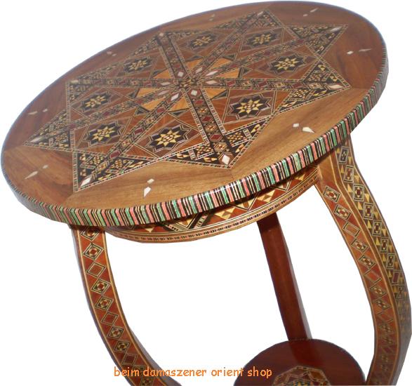 orientalischer telfontisch beistelltisch tisch holz perlmutt handarbeit neu ebay. Black Bedroom Furniture Sets. Home Design Ideas