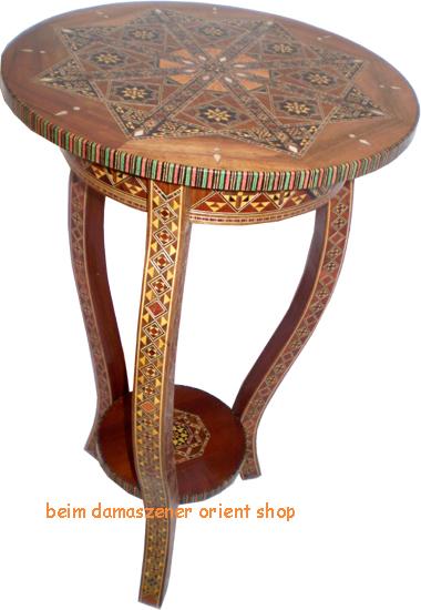orientalischer telfontisch beistelltisch tisch holz perlmutt,