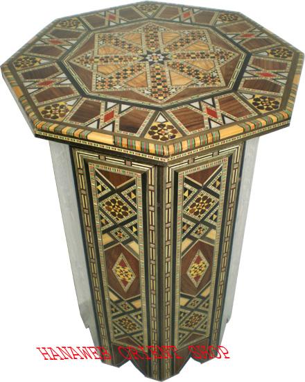 beistelltisch tisch holz intarsien echtes perlmutt wundersch ne handarbeit neu ebay. Black Bedroom Furniture Sets. Home Design Ideas