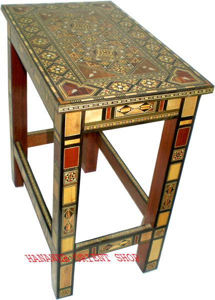 edler beistelltisch tisch holz intarsien perlmutt neu ebay. Black Bedroom Furniture Sets. Home Design Ideas